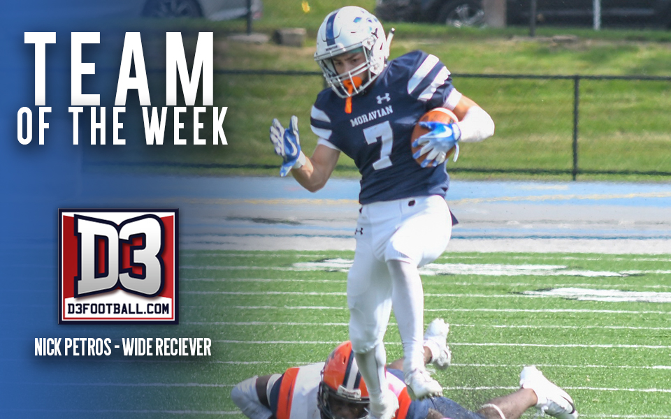Nick Petros named to D3football.com Team of the Week
