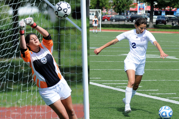 Hayden, Brouillette Push Women's Soccer to GNAC Finals