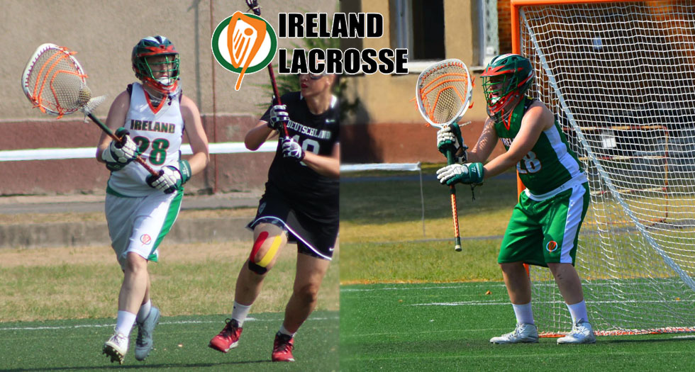 Ashley DeFlumere '09 (#28) in action for Team Ireland in 2015.