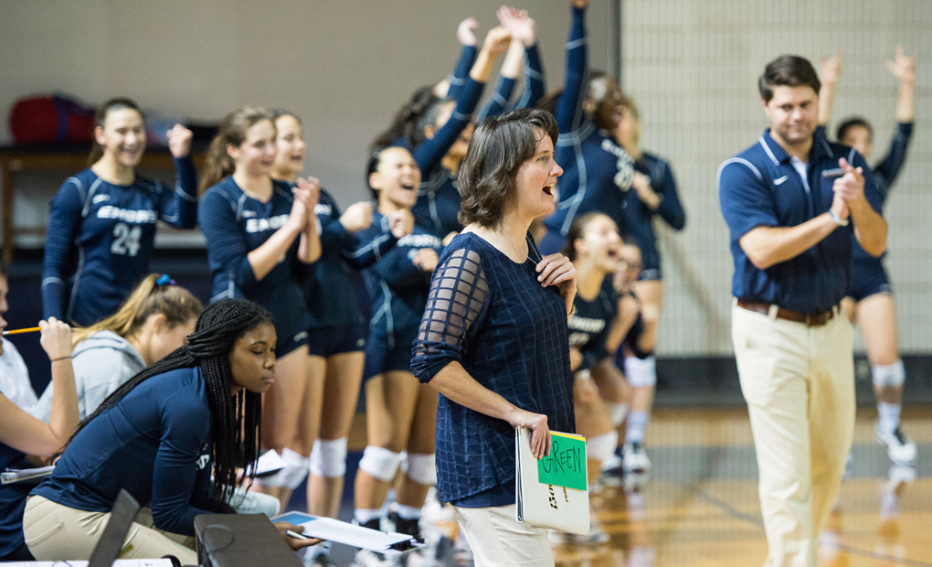 Emory Volleyball Notches Saturday Wins vs. Whitworth And Tufts