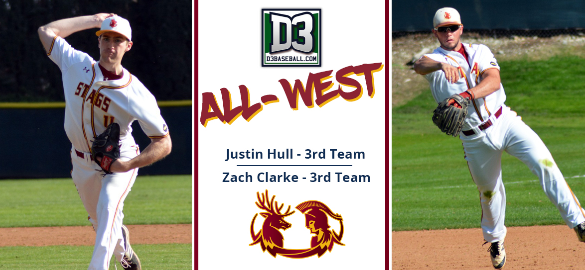Justin Hull, Zach Clarke Named to D3baseball.com All-West Region Team