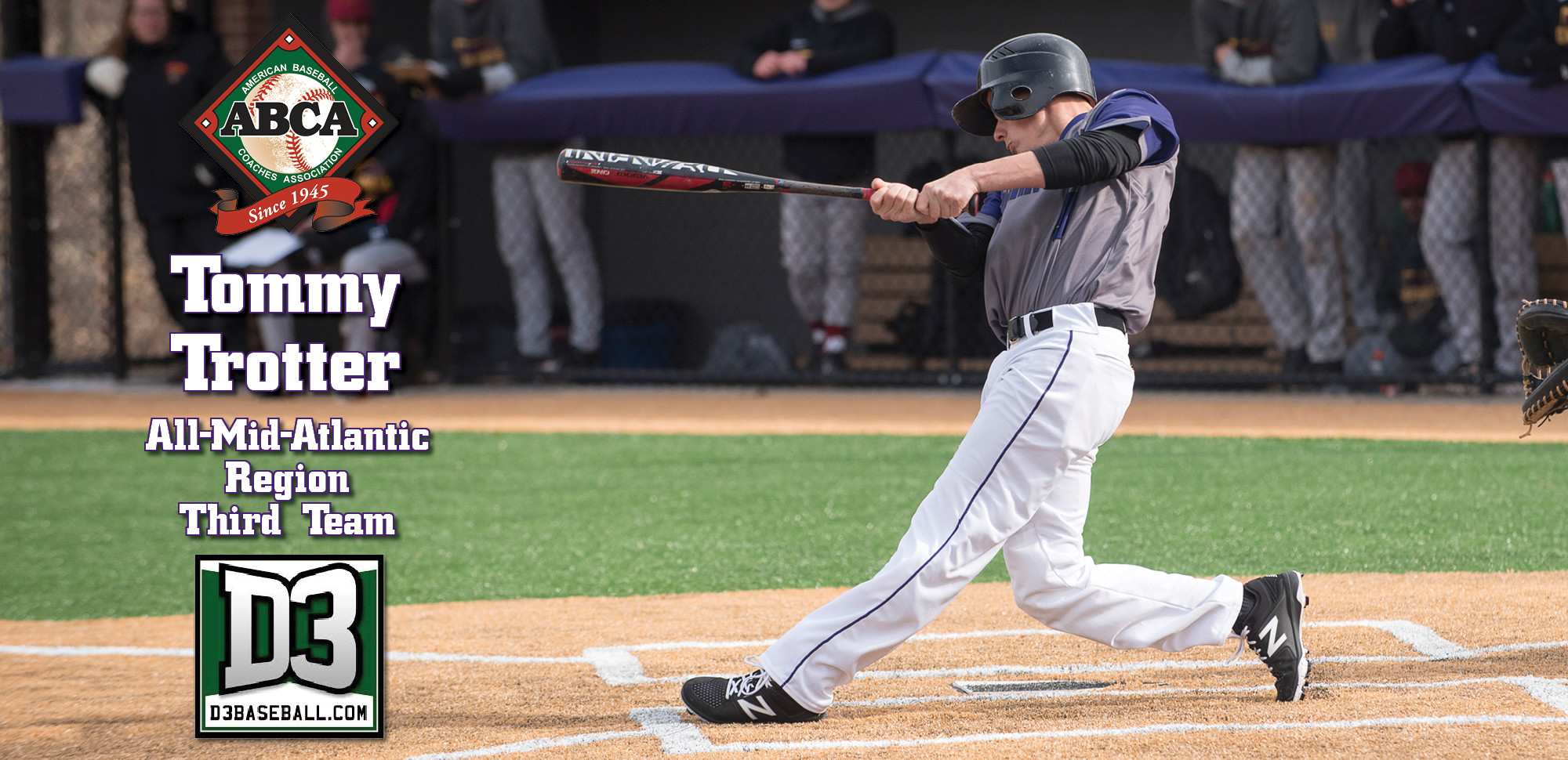 UPDATED: Trotter Named Third-Team All-Region By ABCA & D3baseball.com