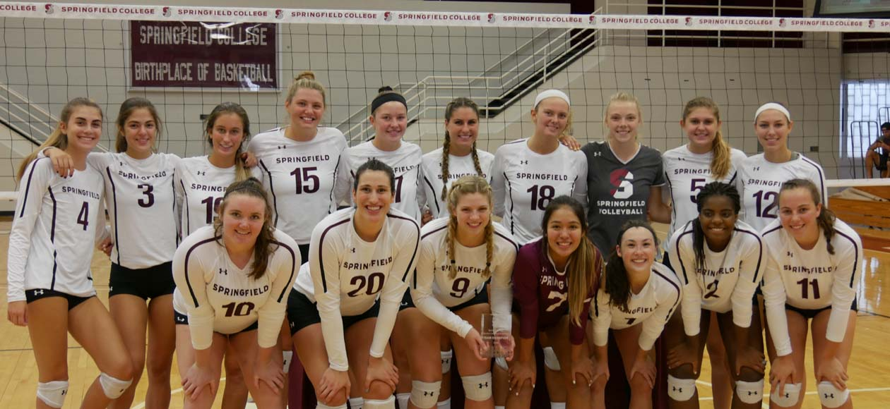 Women's Volleyball Bests Skidmore and RIC to Claim Springfield College Invitational