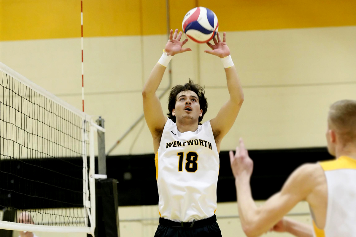 No. 8 Men's Volleyball Downs Newbury in Straight Sets