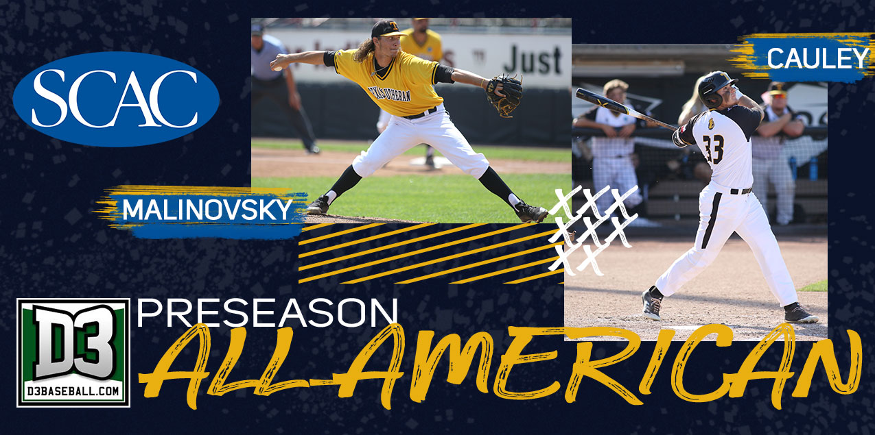 TLU's Malinovsky and Cauley named D3baseball.com Preseason All-Americans