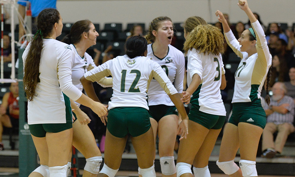 VOLLEYBALL USES STRONG OFFENSIVE AND DEFENSIVE EFFORT TO BEAT NEVADA, 3-1