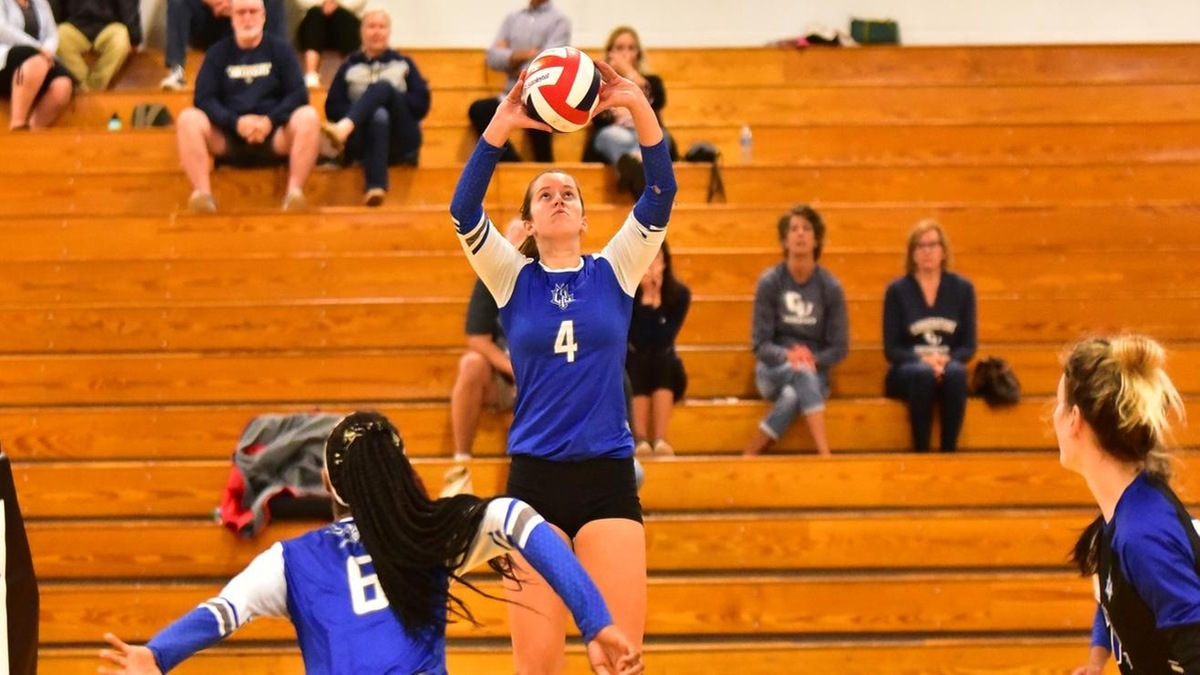 Doherty Sets Career High in Assists as the (RV) Blue Devils Hold on to Defeat UNOH 3-2 on Friday Night; Lodge, McDonald, and Hunt Combined for 52 Kills
