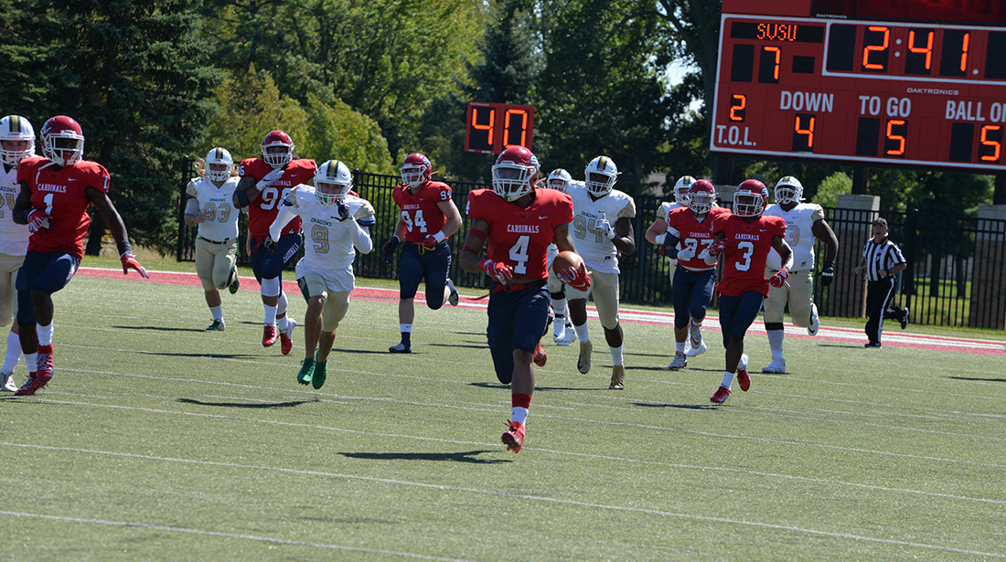 Cards move to 2-0 after 35-20 victory over Tiffin in home opener