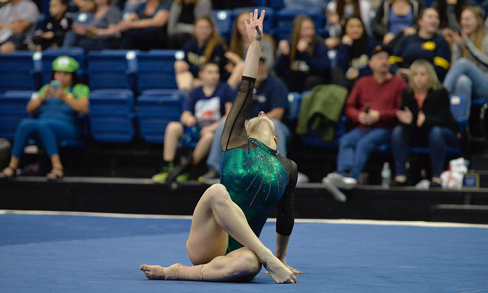 GYMNASTICS BACK AT THE NEST TO FACE CAL, MINNESOTA AND ALASKA ANCHORAGE