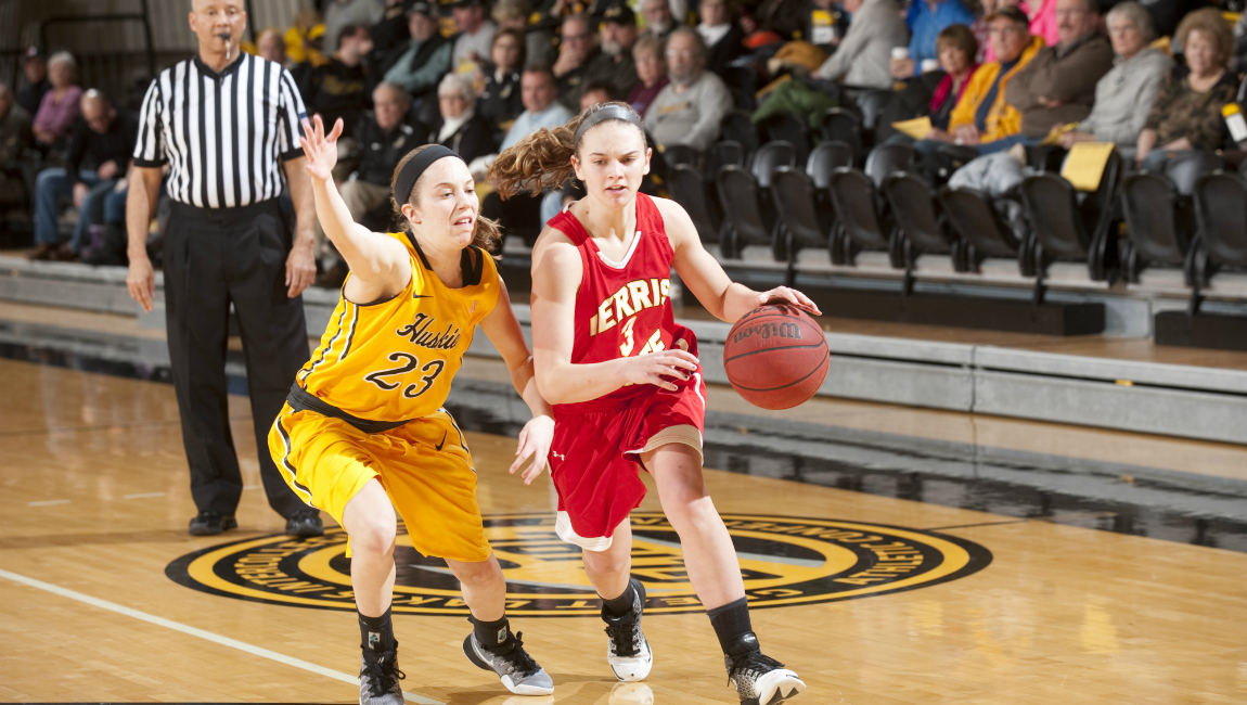 Bulldog Women's Basketball Battles First-Place Huskies On Road In GLIAC North Setback