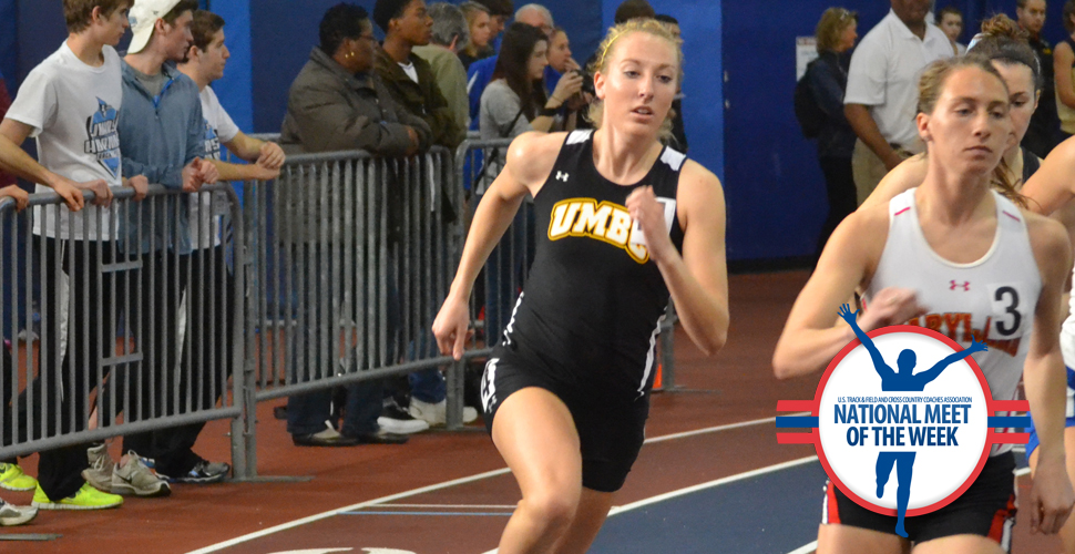 Distance Team Breaks School Marks as UMBC Opens Competition at Armory Collegiate Invitational