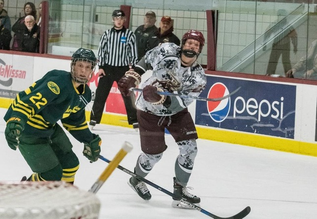 Jack Griffin men's hockey action