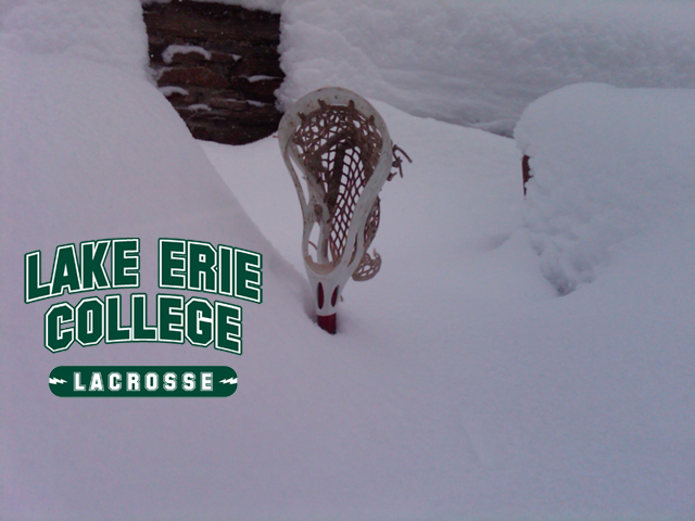 Lake Erie - NYIT Lacrosse Game Postponed Due to Snow