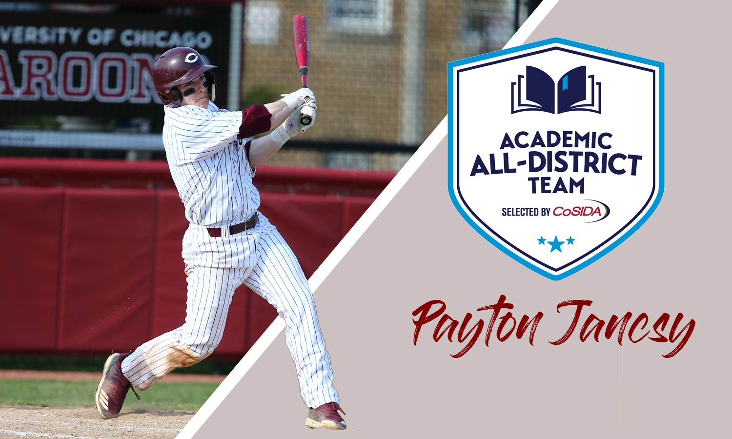 Payton Jancsy Picked to CoSIDA Academic All-District Baseball Team