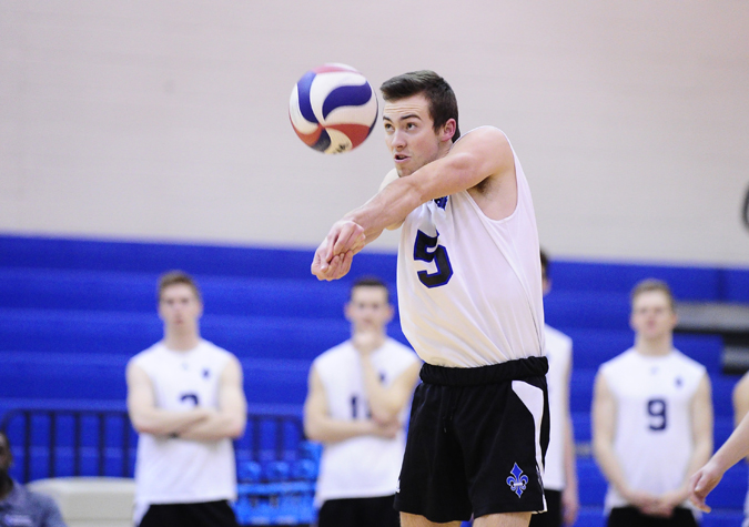 No. 12 Men's volleyball falls in five-set thriller to Lions