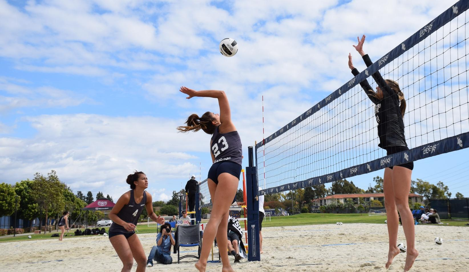 Women's beach volleyball team plays tough against four years