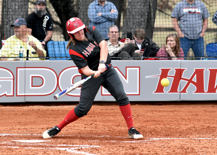 MacKenzie Smelley was 5-for-6 with five RBIs, a run and two stolen bases in Sunday's games with the University of the Ozarks and Rhodes.