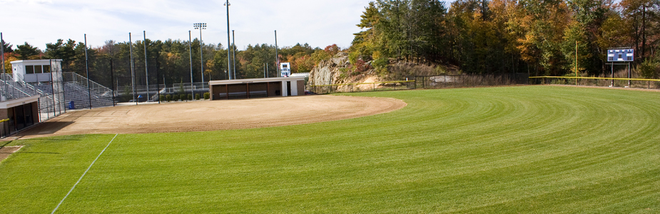 Elevated view of the Softball Complex from right field