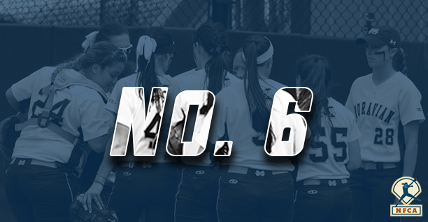 Moravian ranked No. 6 in latest NFCA DIII Top 25 Poll.