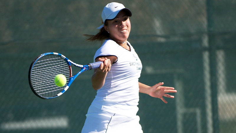 WOMEN'S TENNIS SWEEPS EASTERN WASHINGTON