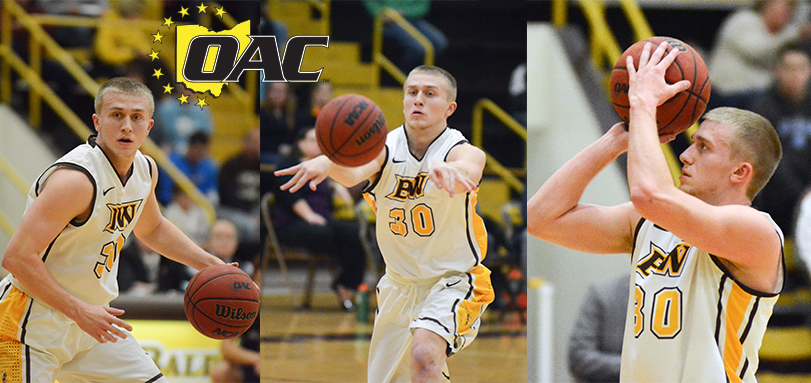 Kuhn Earns Third Career OAC Men's Basketball Player of the Week Accolade
