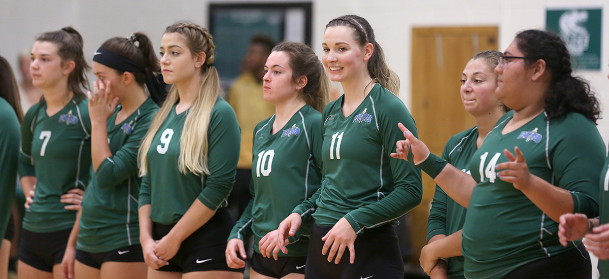 Houghton beats Sage in E8 volleyball action