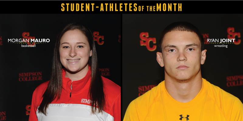 Mauro, Joint named December Student-Athletes of the Month