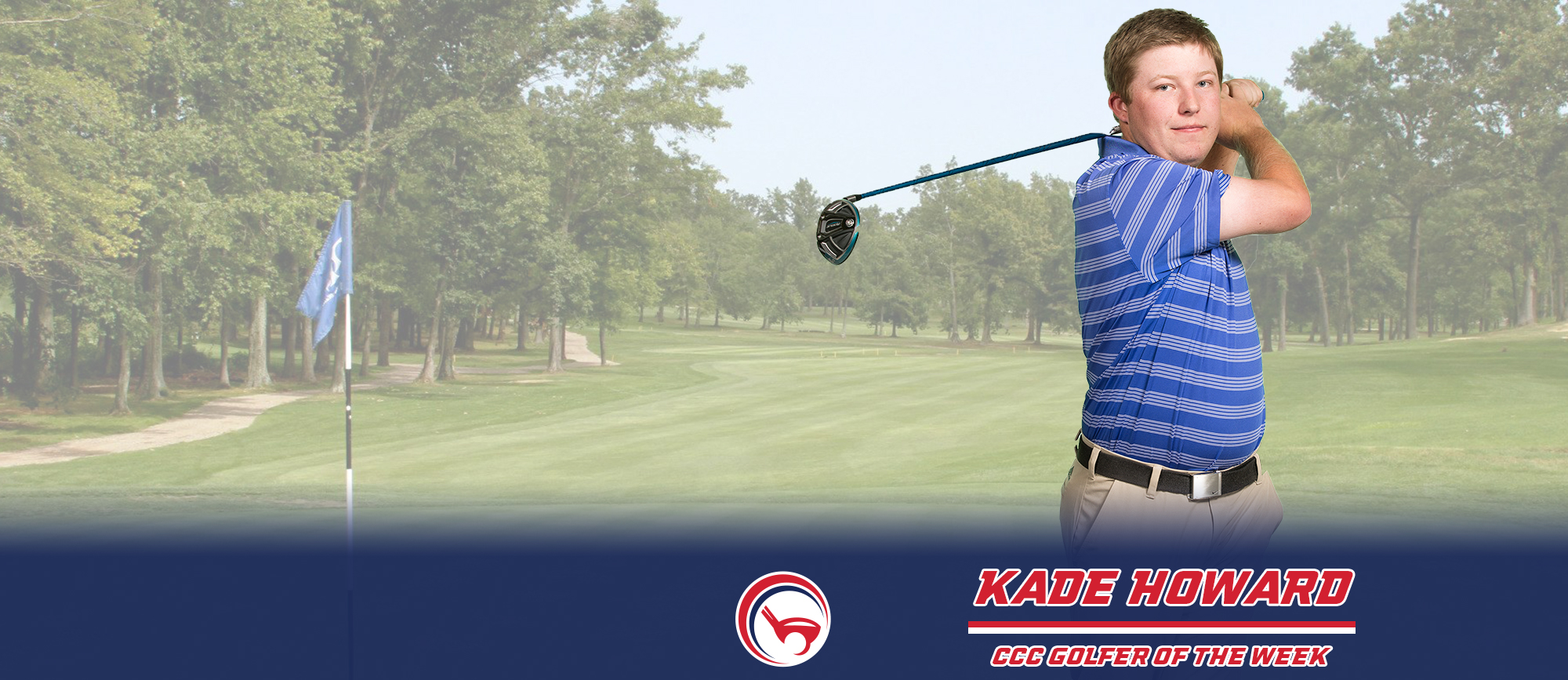 Kade Howard Earns First Career CCC Golfer of the Week Award