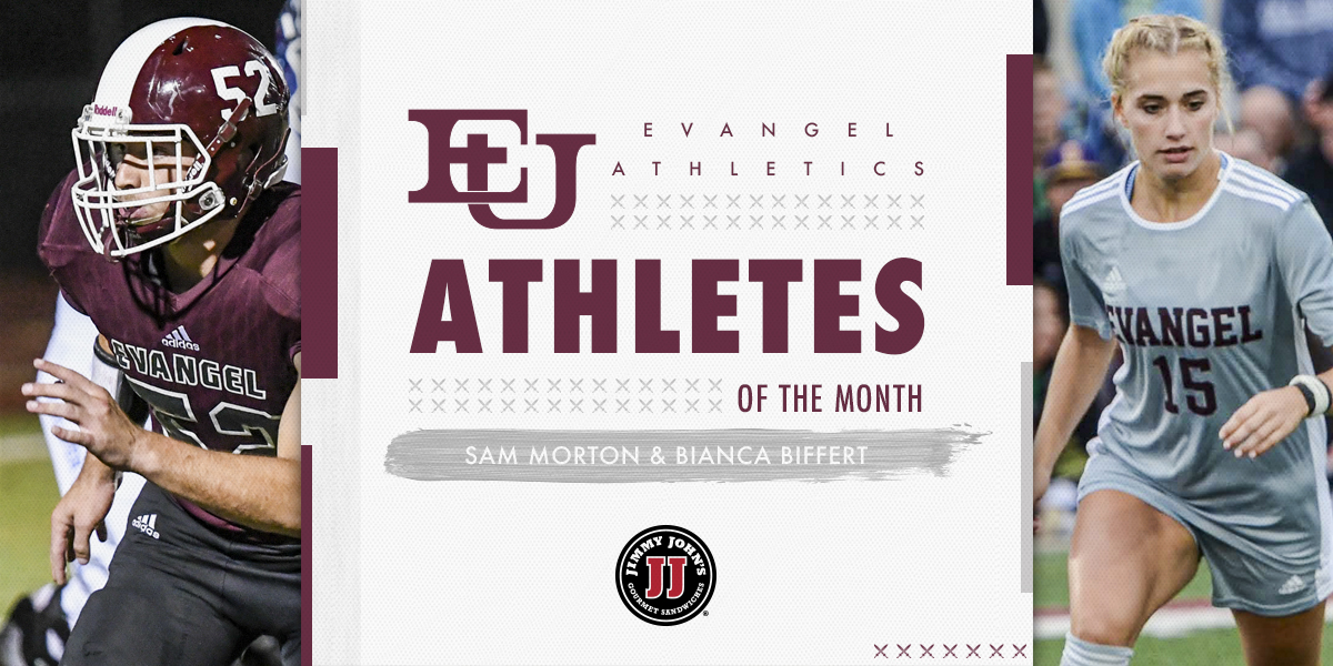 Morton and Biffert Named Jimmy John's Student-Athletes of the Month
