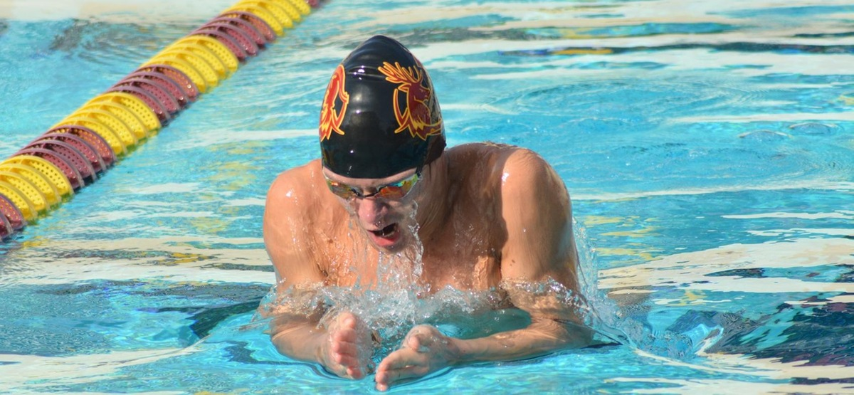 Junior Henry Limm earned the highest individual finish for the Stags on Sunday, coming in second in the 200 breast.
