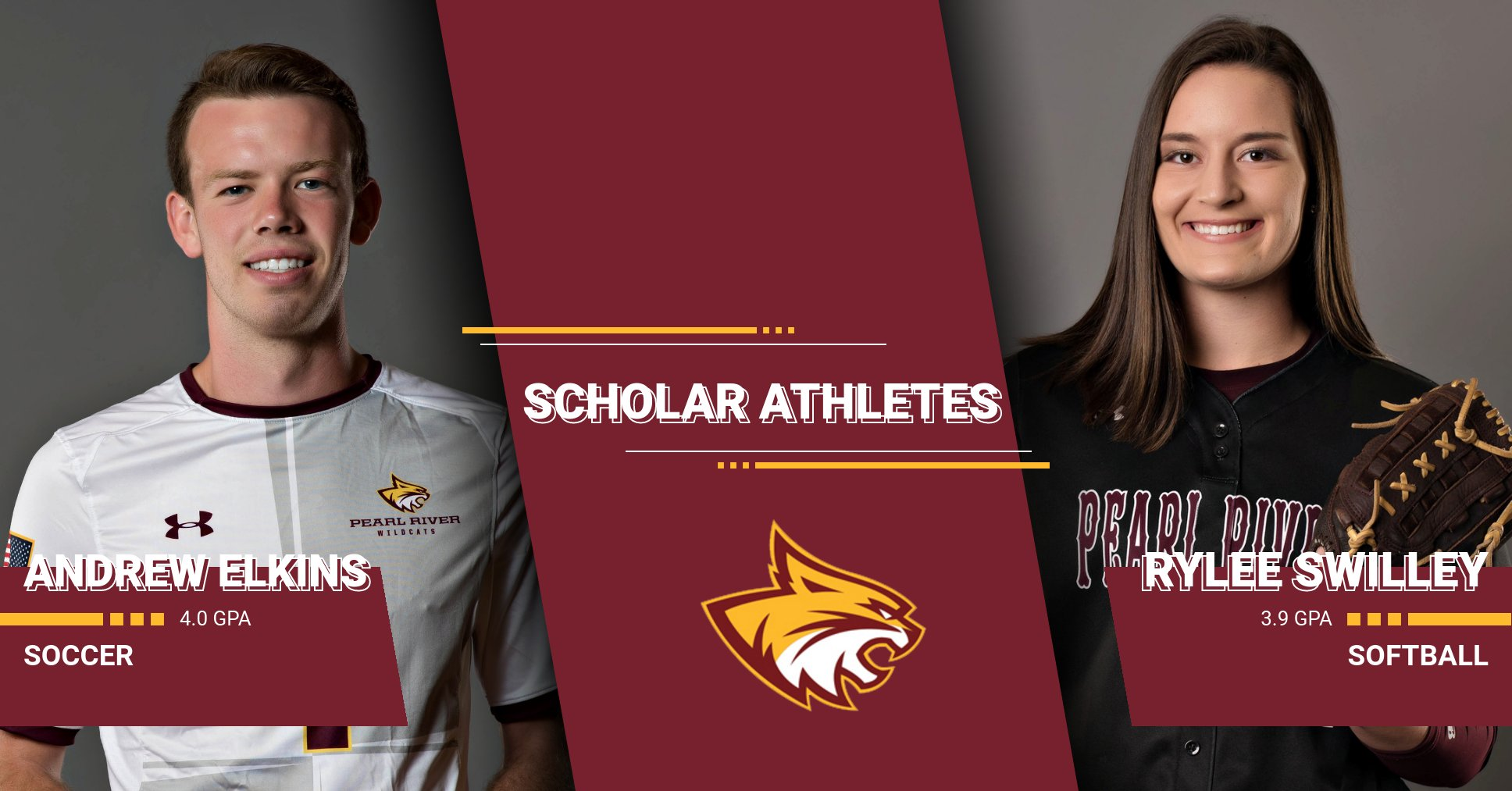 Rylee Swilley, Andrew Elkins named Pearl River scholar athletes