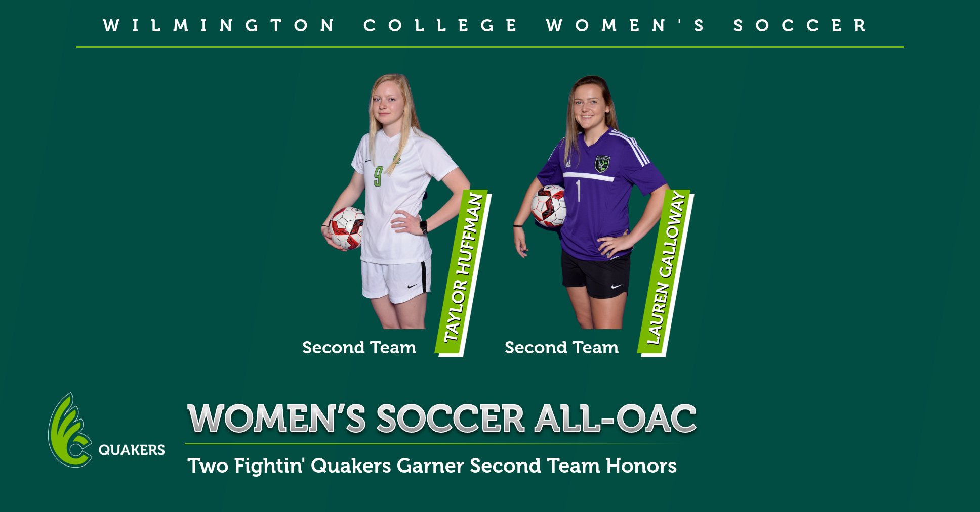 Huffman and Galloway Earn All-OAC Recognition