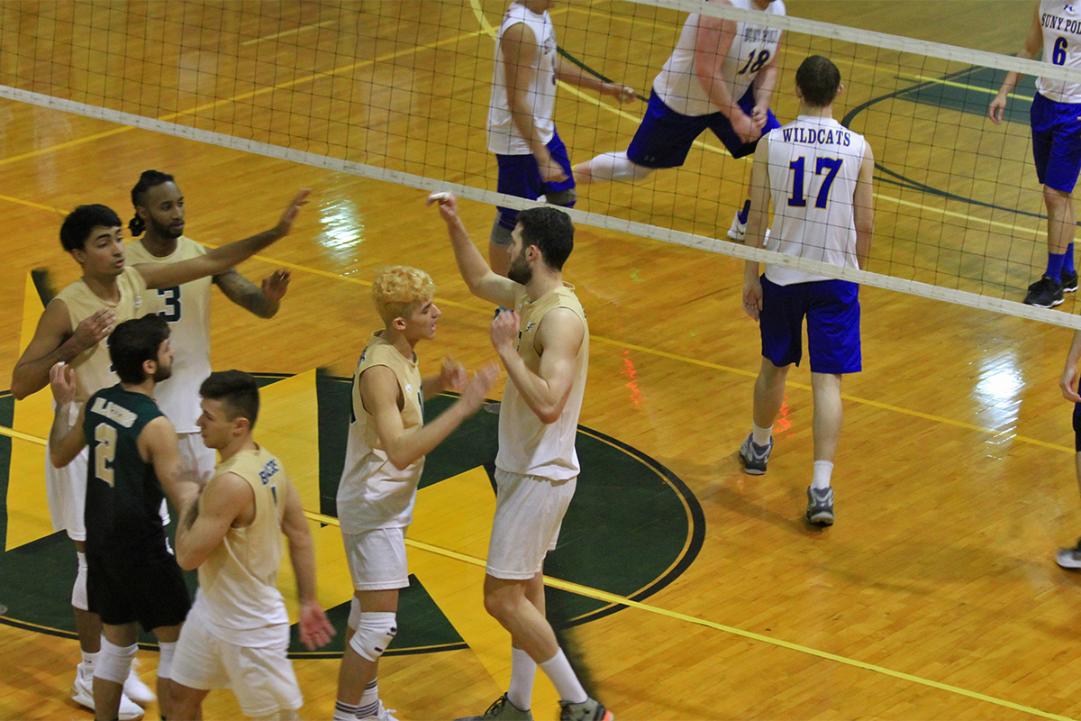 Elms Men's Volleyball Sweeps SUNY Poly