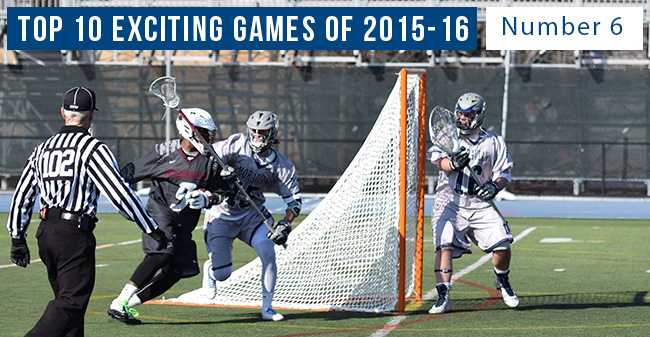 Top 10 Exciting Games of 2015-16 - #6 Men's Lacrosse Returns to Varsity Competition with Win