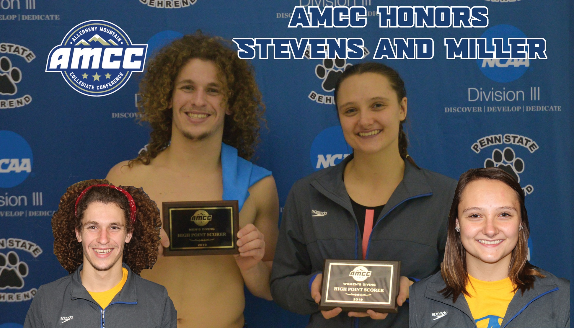 Stevens and Miller named AMCC Divers of the Week