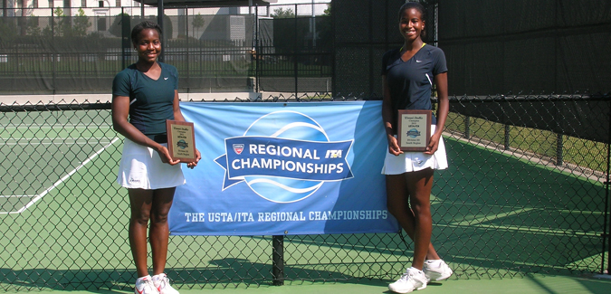 Clark Wins ITA Regional Singles Draw; Teams with Zahra Dawson for Doubles Championship