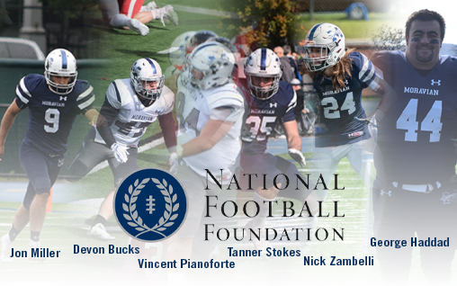 Six Greyhounds Named to National Football Foundation Hampshire Honor Society.