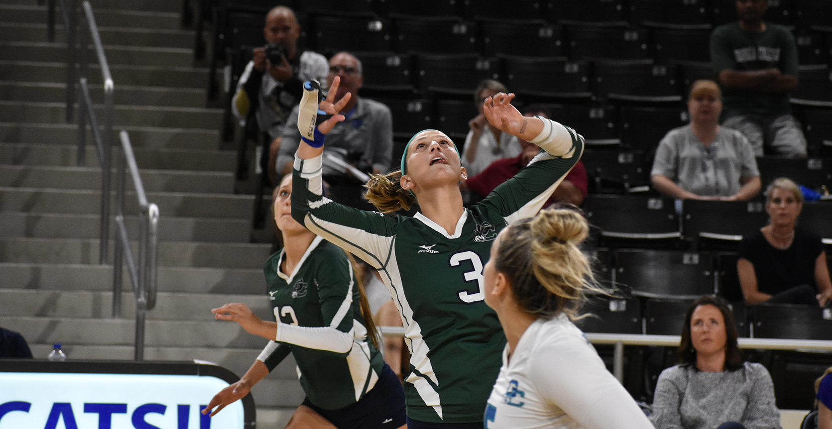 Georgia College Volleyball Dominates Late to Claim Win Versus Lander
