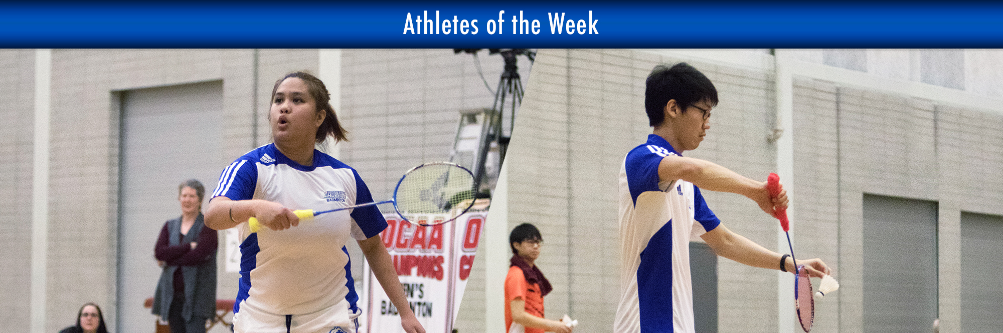 ANGELINE ALVIAR, MIKE RA NAMED HUSKIES ATHLETES OF THE WEEK AFTER TEAMING UP FOR PROVINCIAL GOLD