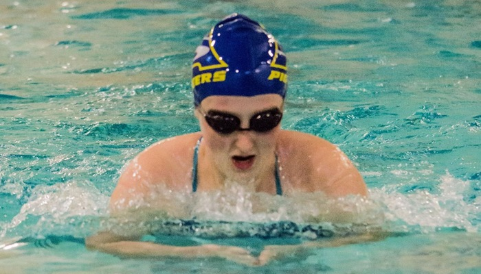 Breast stroke during home meet