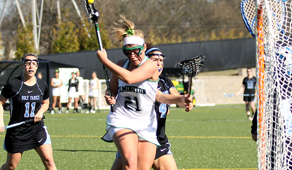 No. 15 Dowling Takes Women's Lacrosse Season Opener, 15-4, over Wilmington