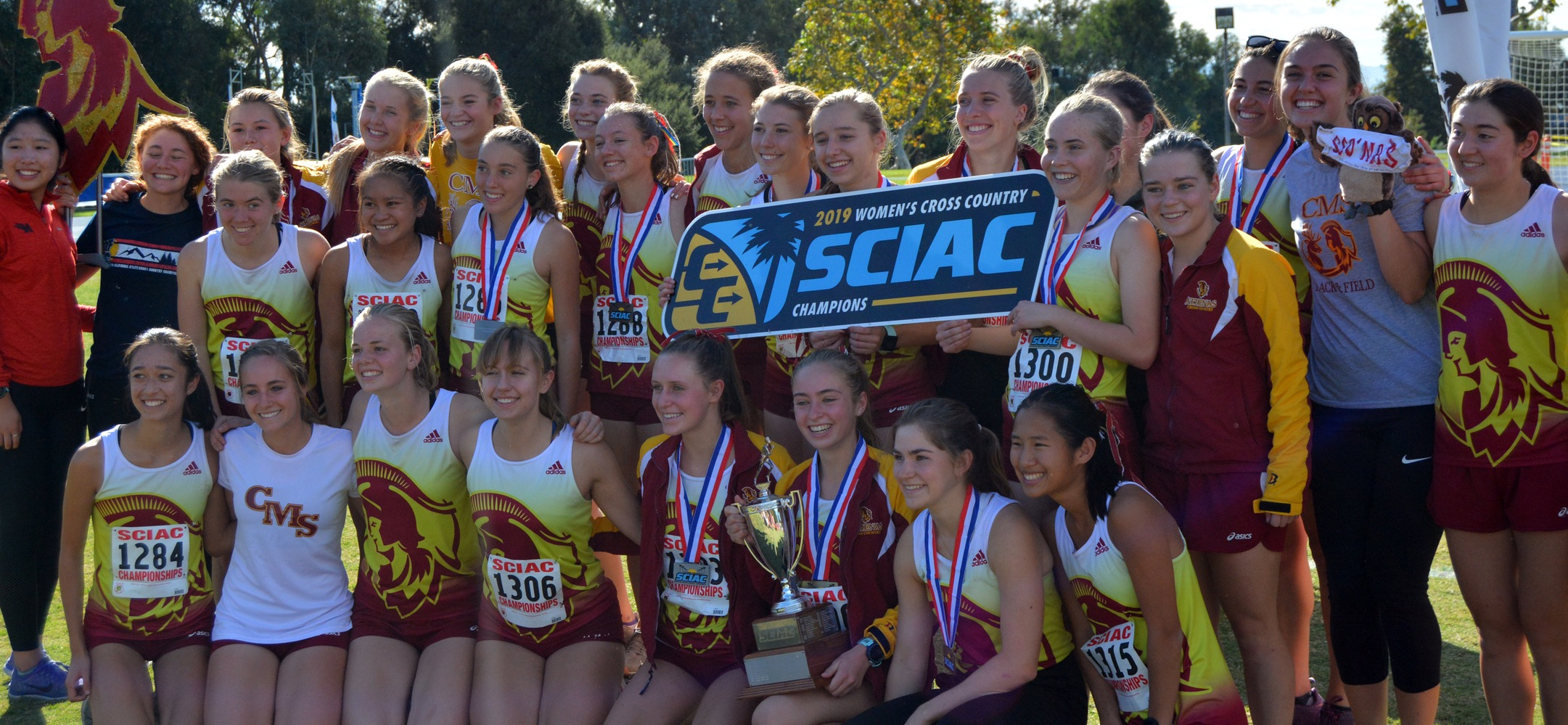 Ten Straight! CMS Women's Cross Country Sweeps the Decade with Another SCIAC Title