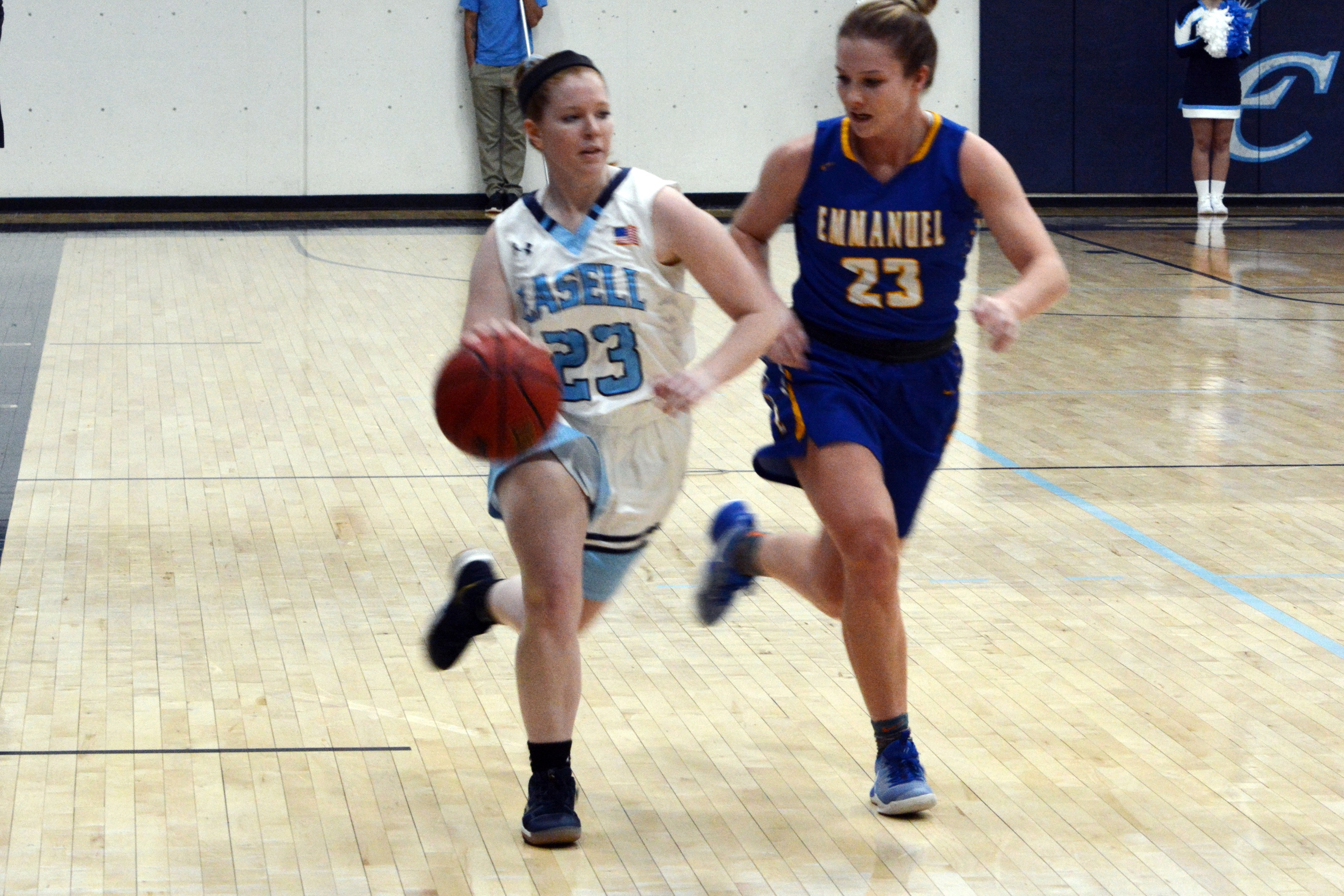 Lasell Women's Basketball upended by Emmanuel