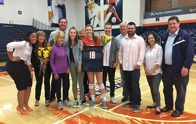 Katelyn Nielsen on Senior Night