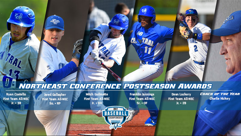 Hickey Named NEC Baseball Coach of the Year; Eight Earn All-Conference Honors
