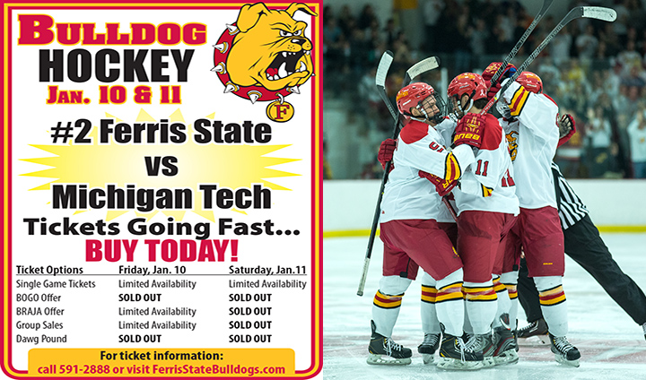 Limited Tickets Remain As #2 Ferris State Hockey Resumes WCHA Play This Weekend