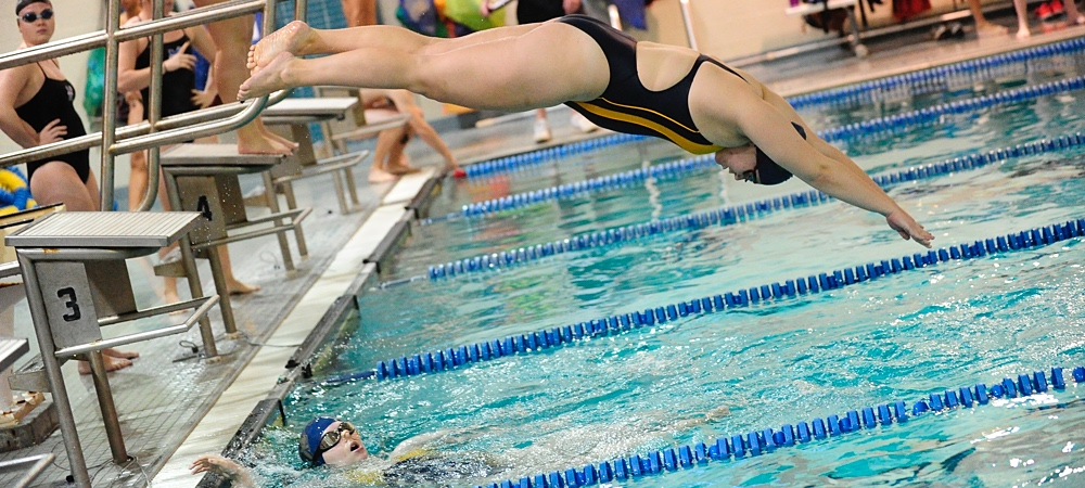 Bison women's swimming swept in NEAC opener by defending champs, Cedar Crest