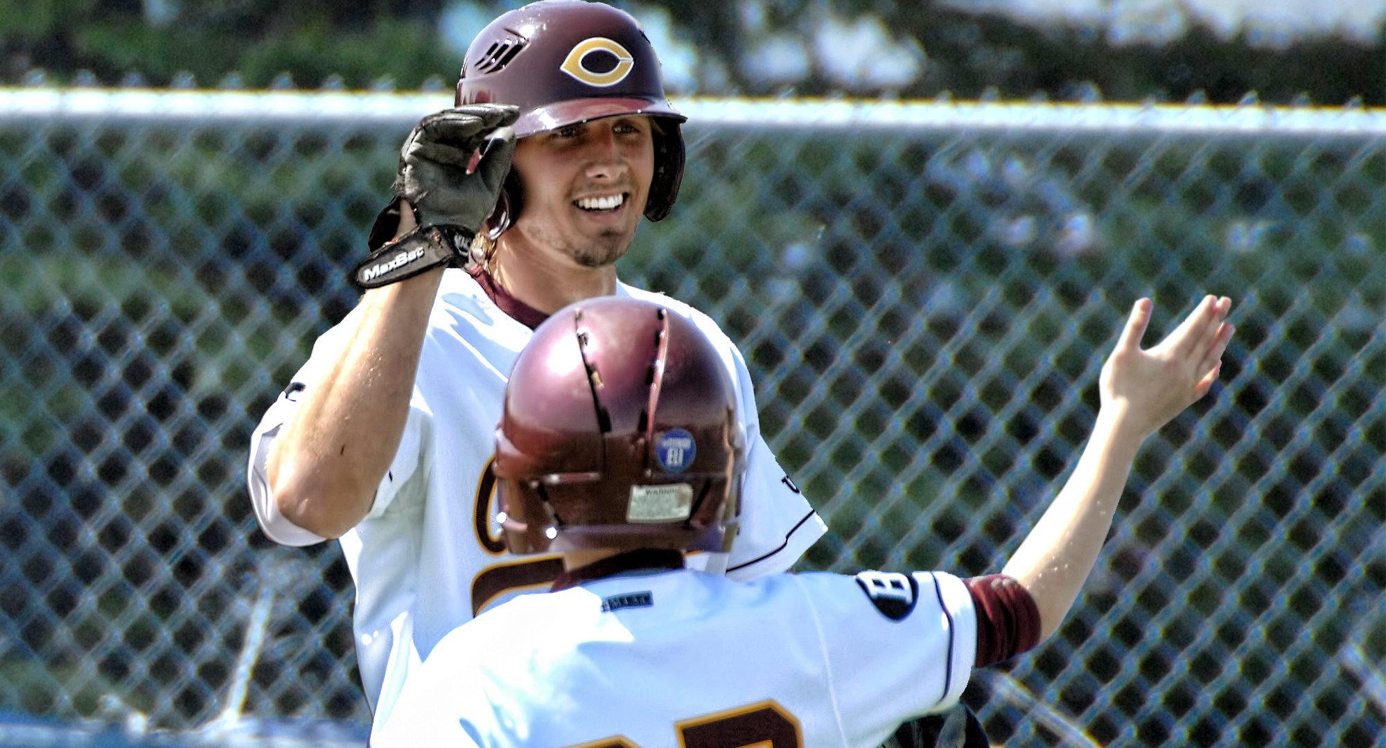Austin Ver Steeg pitched a complete-game shutout and hit the game-winning home run in the Cobbers' 2-0 Game 1 win over Pitt.-Greensburg.