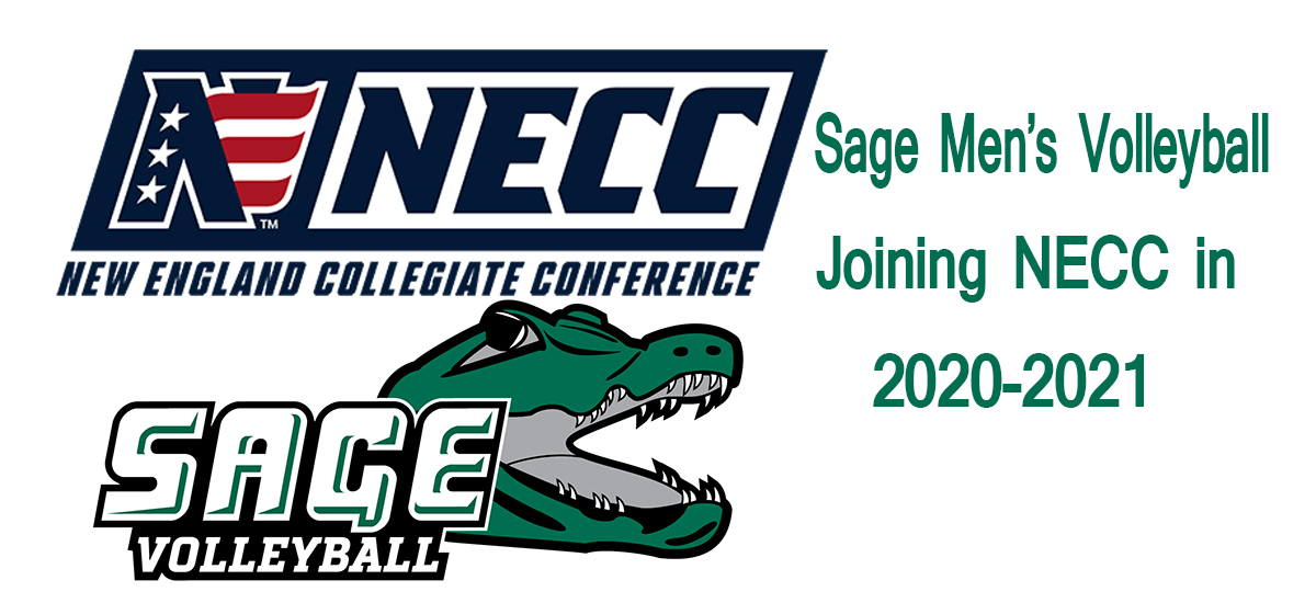 NECC Invites Sage Men's Volleyball Program to join league; Gators will compete in new league in 2020-2021