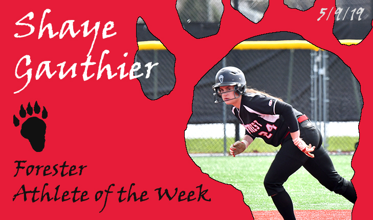 Shaye Gauthier Named Forester Athlete of the Week